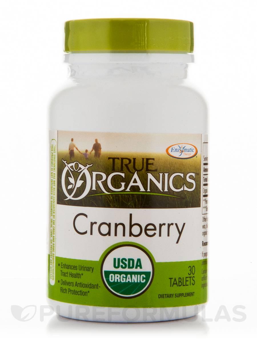 True Organics Cranberry - 30 Tablets