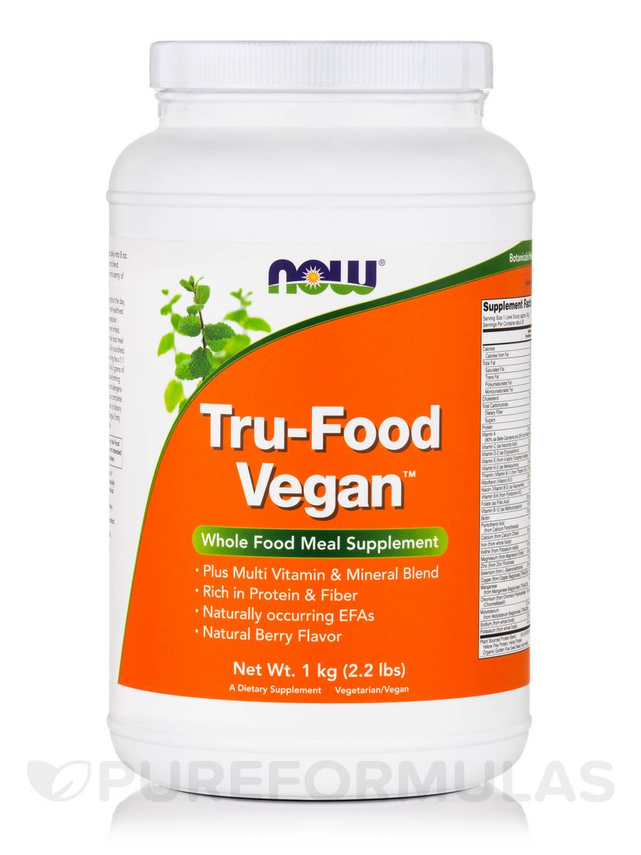 Tru-Food Vegan™, Natural Berry Flavor - 2.2 lbs (1 kg)