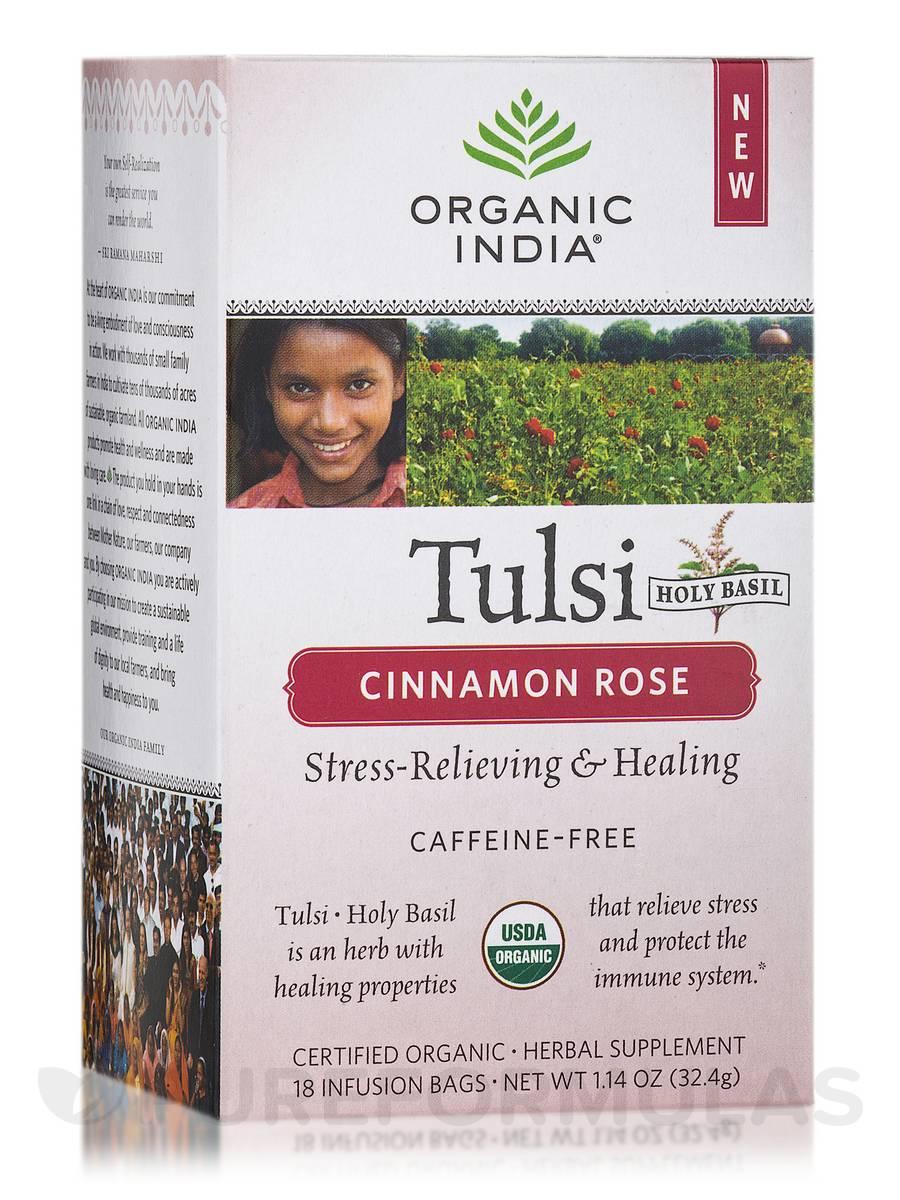 Tulsi Cinnamon Rose Tea - 18 Bags (1.14 oz / 32.4 Grams)