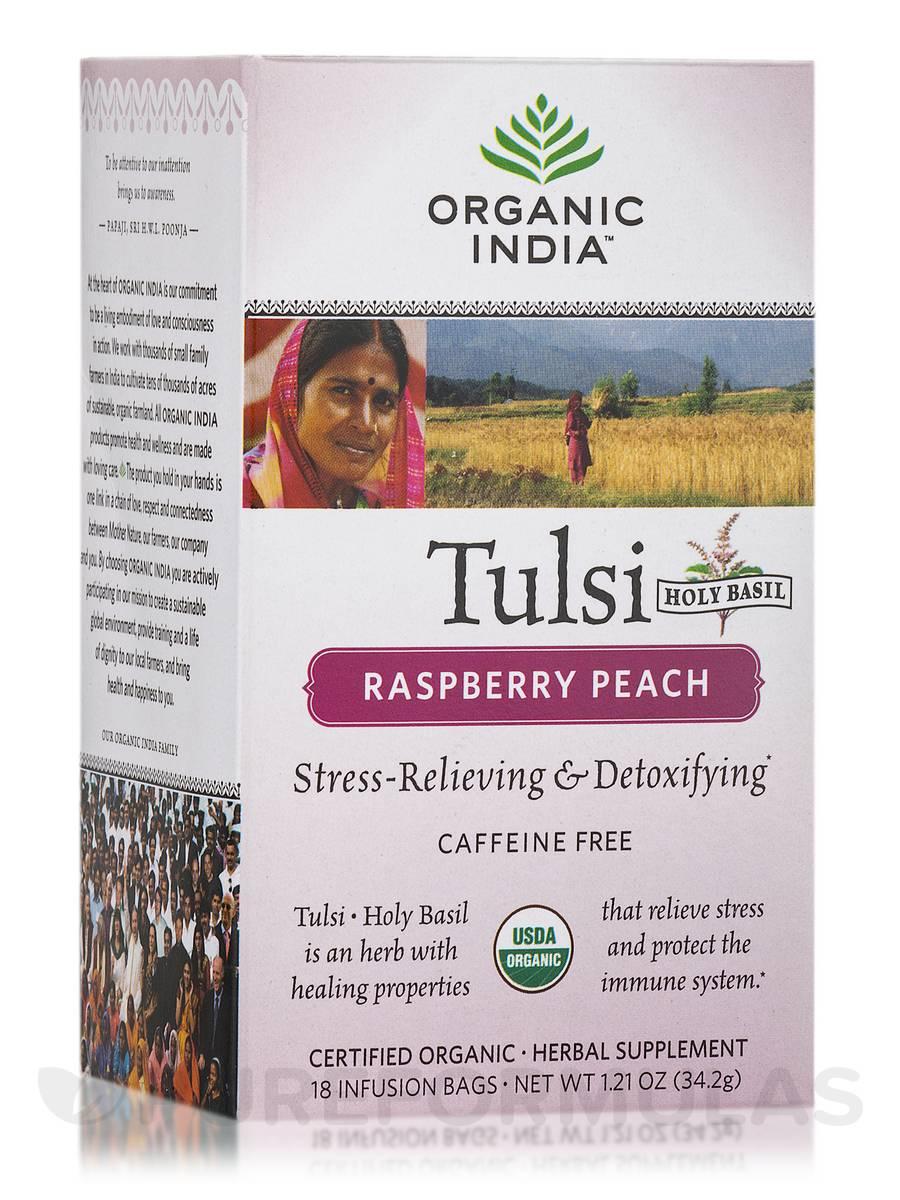 Tulsi Raspberry Peach Tea - 18 Bags (1.21 oz / 34.2 Grams)