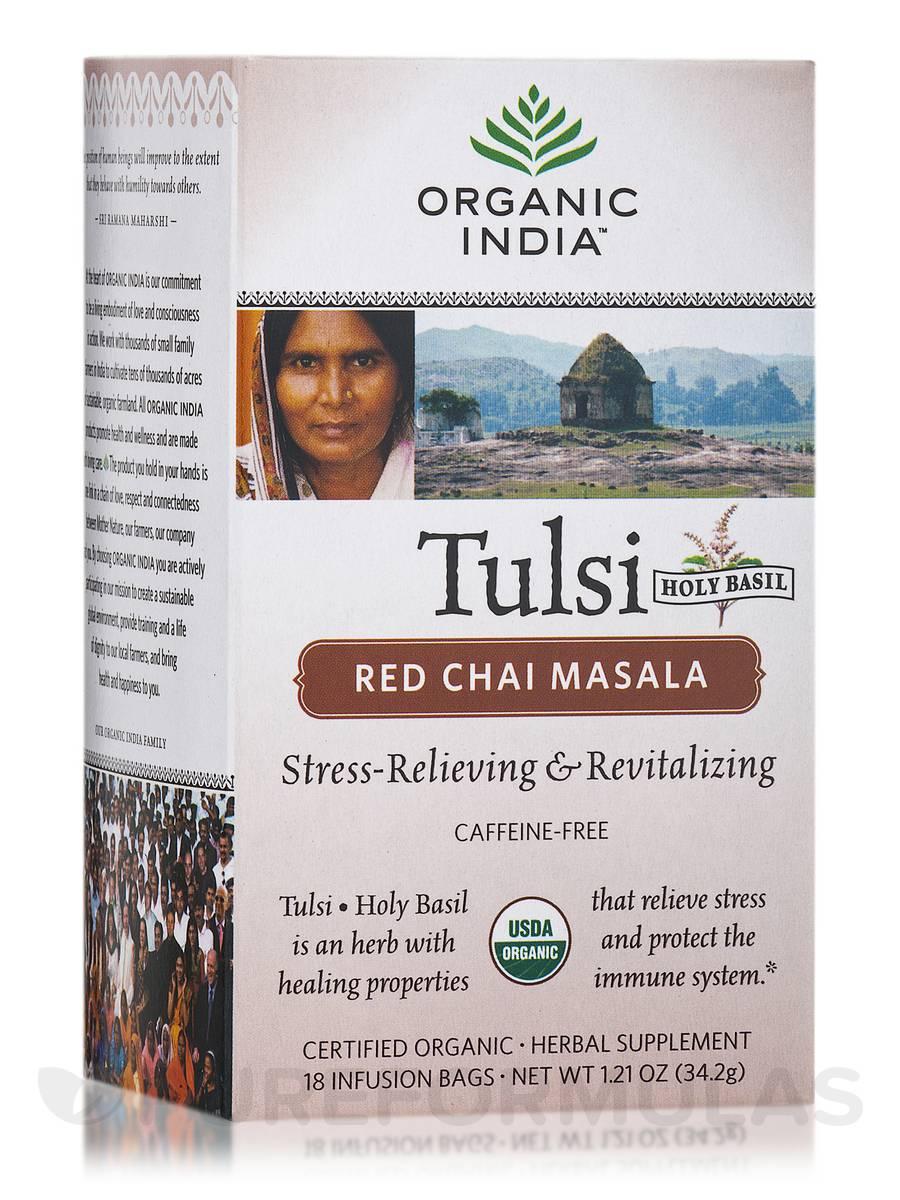 Tulsi Red Chai Masala Tea - 18 Bags (1.21 oz / 34.2 Grams)