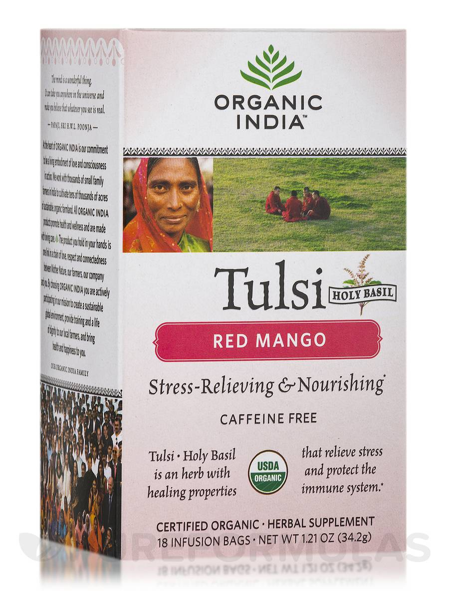 Tulsi Red Mango Tea - 18 Bags (1.21 oz / 34.2 Grams)
