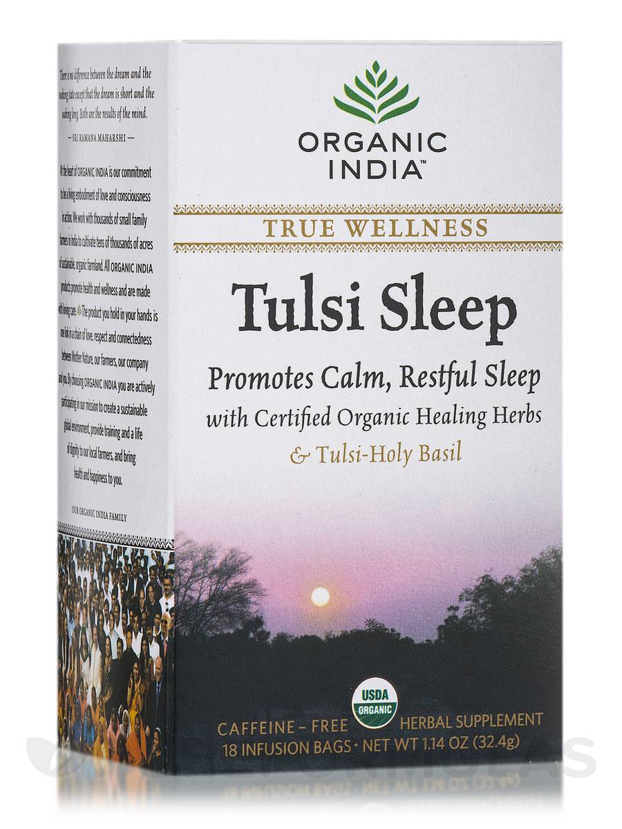 Tulsi Sleep Tea Wellness - 18 Bags (1.14 oz / 32.4 Grams)