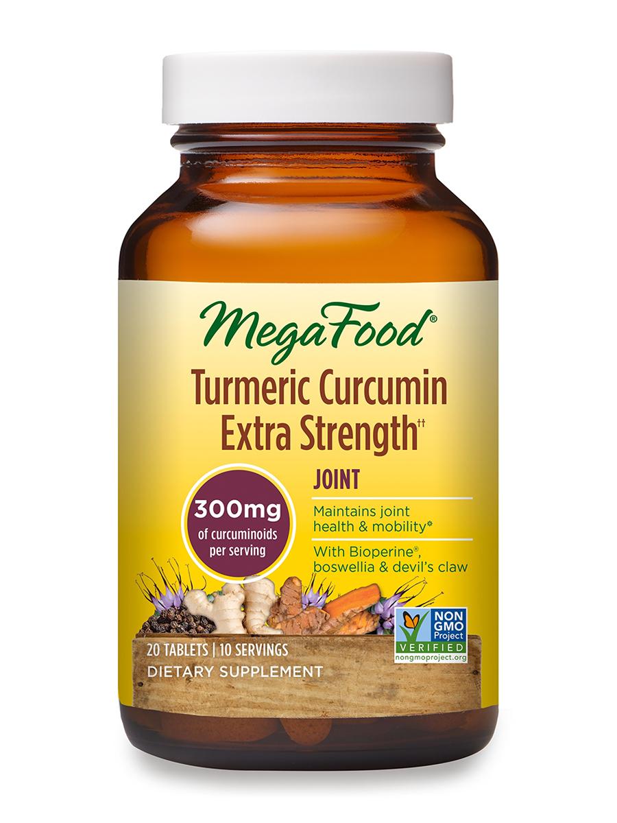 MegaFood - Turmeric Curcumin Extra Strength for Joint - 20 Tablets