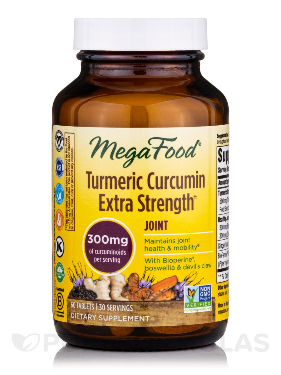 MegaFood - Turmeric Curcumin Extra Strength for Joint - 60 Tablets