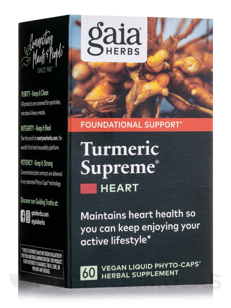 Turmeric Supreme: Heart - 60 Vegetarian Liquid Phyto-Caps®
