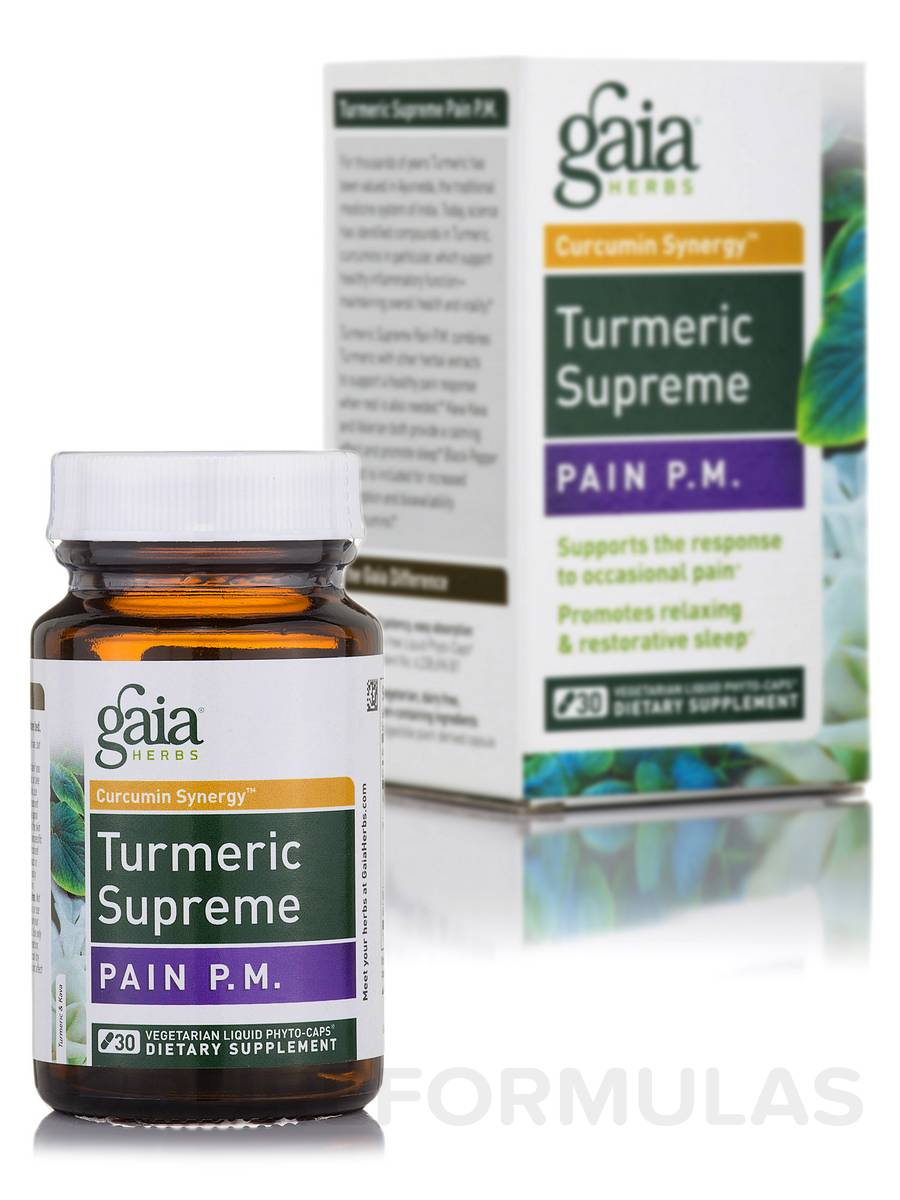 Turmeric Supreme: Pain P.M. - 30 Vegetarian Liquid Phyto-Caps®