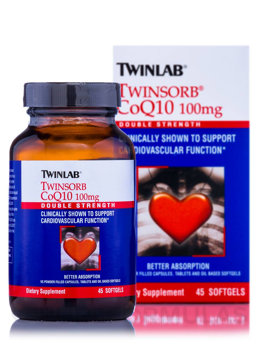 Twinsorb CoQ10 100 mg - 45 Softgels