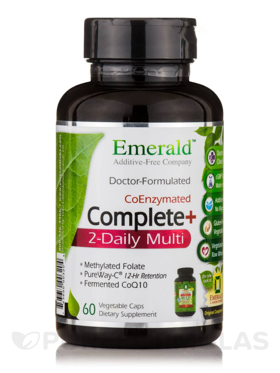 Complete+ 2-Daily Multi - 60 Vegetable Capsules