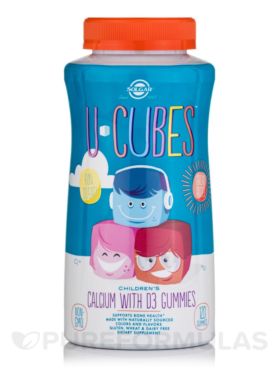 U-Cubes™ Children s Calcium with D3 - 120 Gummies b66052779426