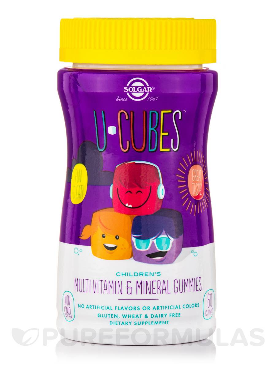U-Cubes™ Children s Multi-Vitamin   Mineral - 60 Gummies. Hover to zoom 07ffe76d813f