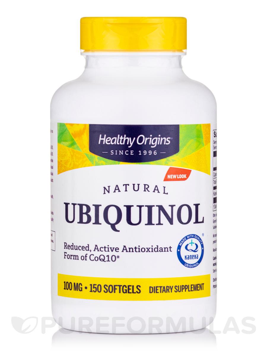 Ubiquinol 100 mg (Active Antioxidant Form of CoQ10) - 150 Softgels