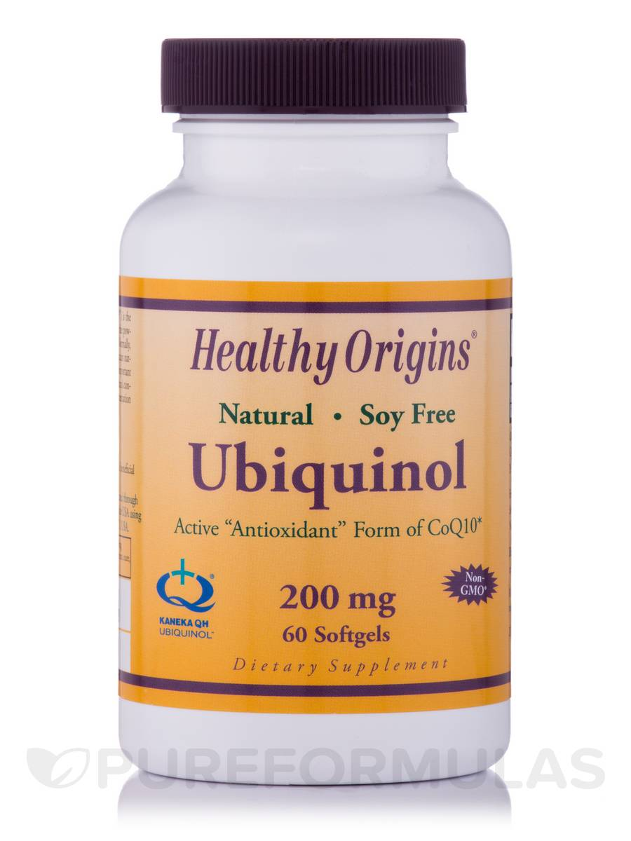 Ubiquinol 200 mg (Active Antioxidant Form of CoQ10) - 60 Softgels