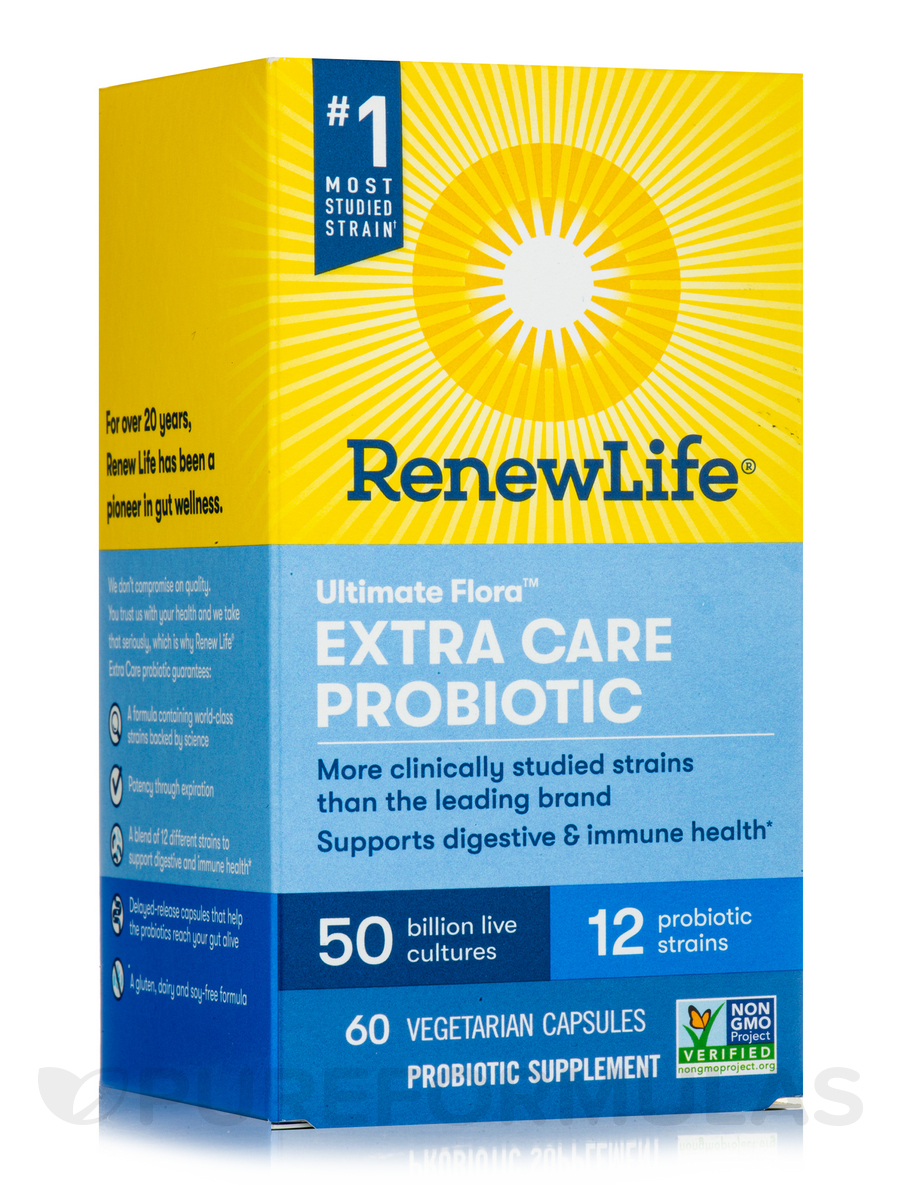 Ultimate Flora™ Extra Care Probiotic 50 Billion - 60 Vegetable Capsules