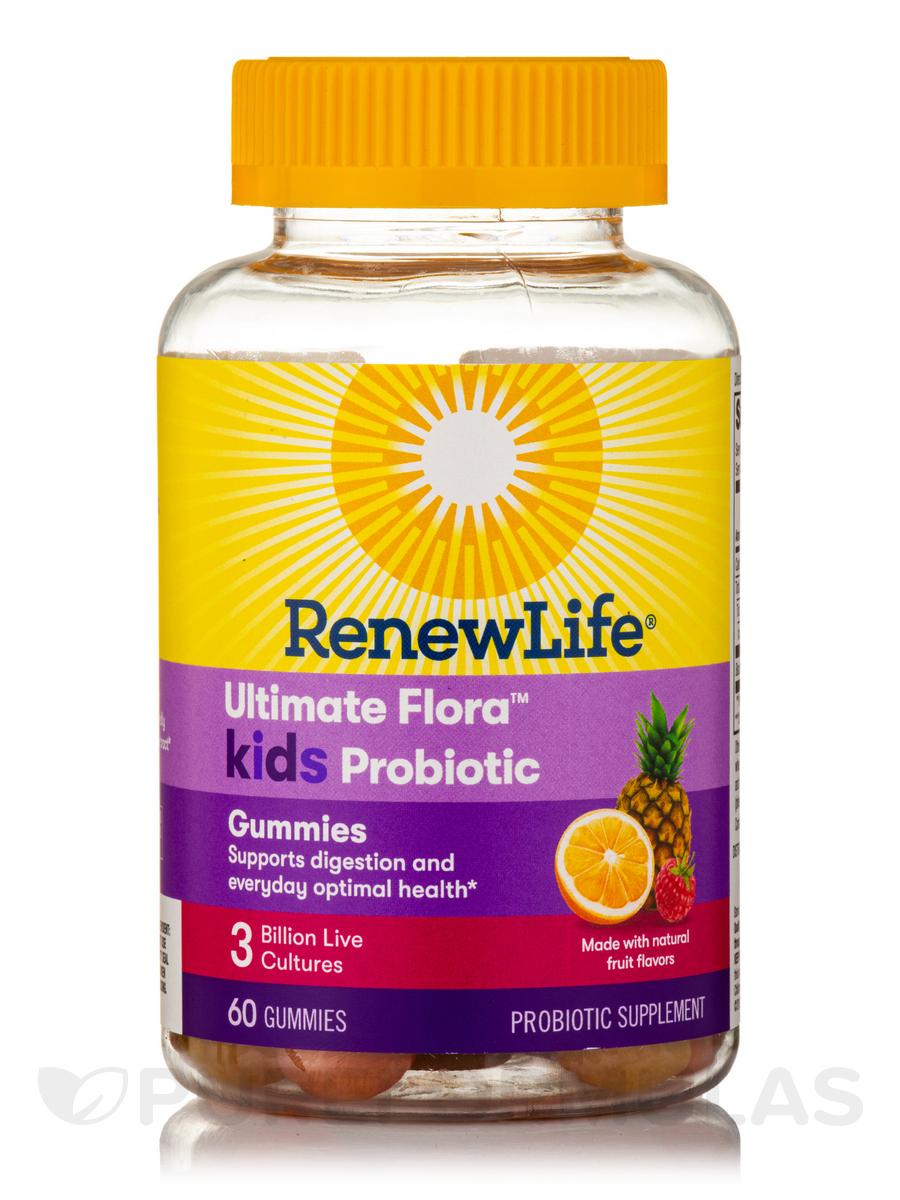Ultimate Flora™ Kids Probiotic 3 Billion CFU, Natural Fruit Flavors - 60 Gummies