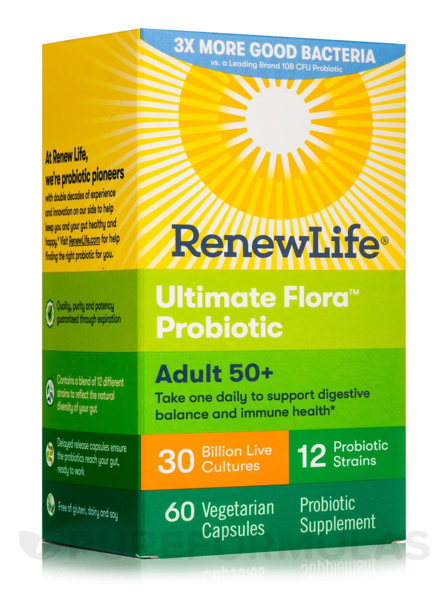 Ultimate Flora™ Adult 50+ Probiotic 30 Billion - 60 Vegetable Capsules