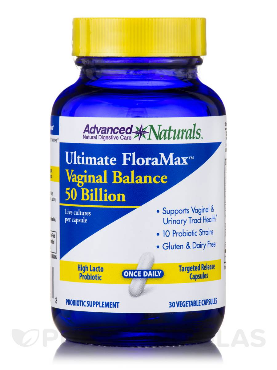Ultimate FloraMax Vaginal Balance 50 Billion - 30 Vegetable Capsules