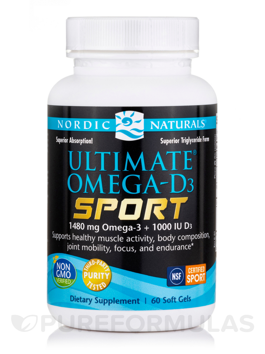 Ultimate Omega-D3 Sport 1000 mg - 60 Soft Gels