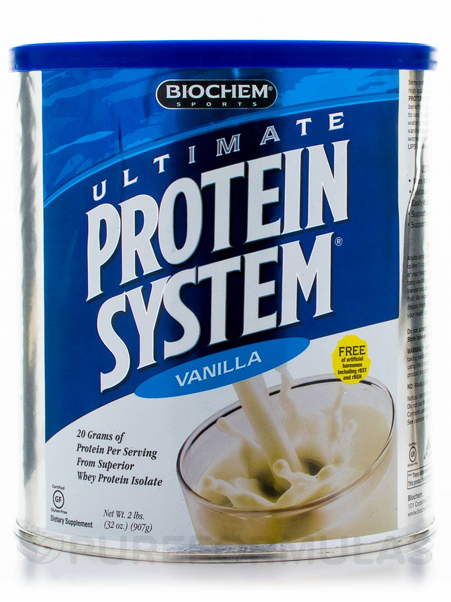 Ultimate Protein System (Vanilla) - 2 lbs (32 oz / 907 Grams)