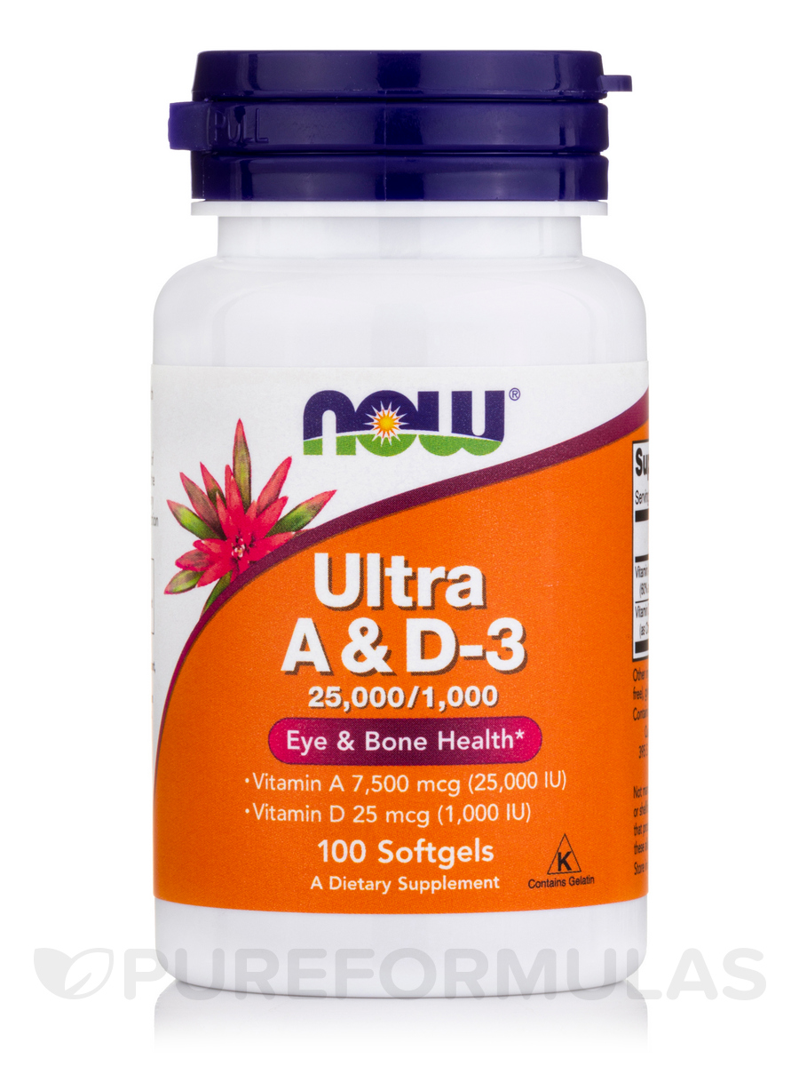 Ultra A & D-3 (25,000/1,000 IU) - 100 Softgels