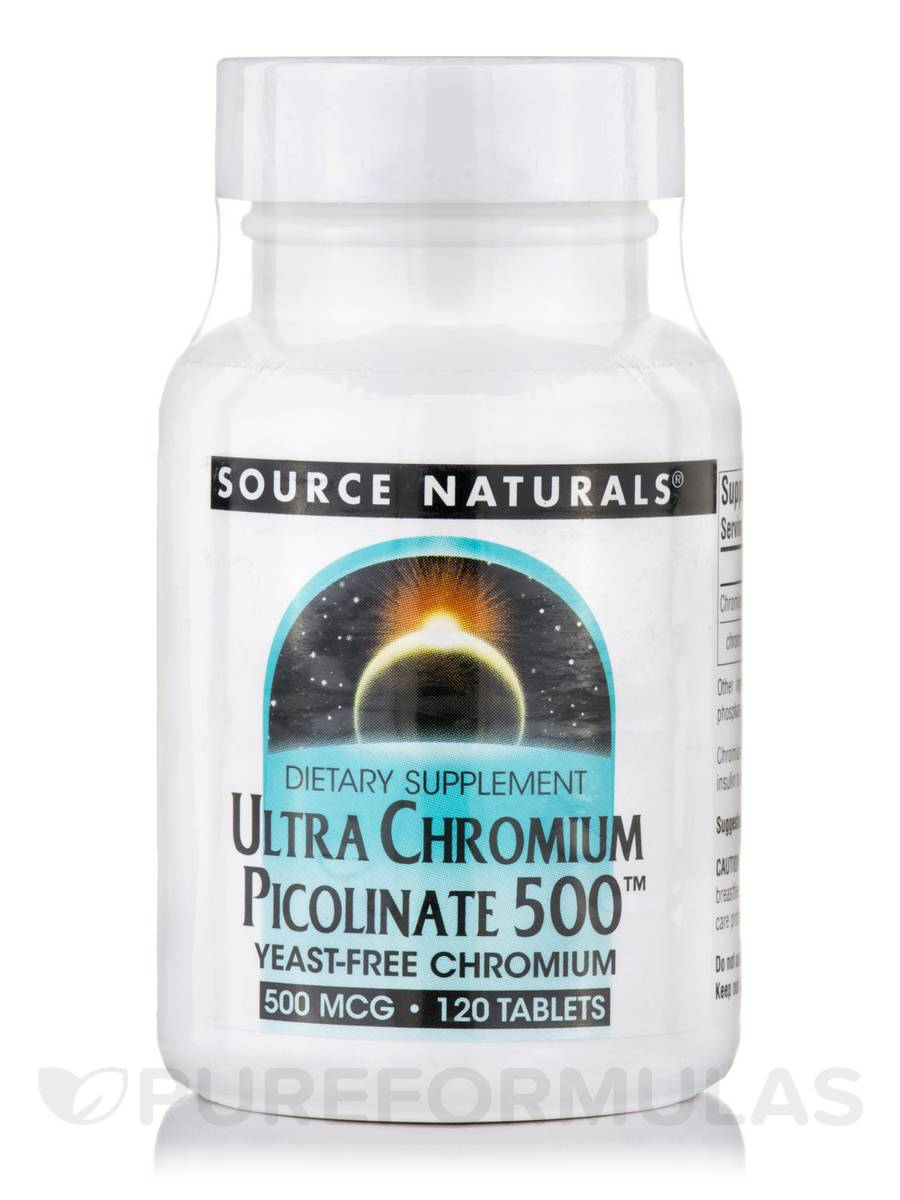 Ultra Chromium Picolinate 500 mcg - 120 Tablets