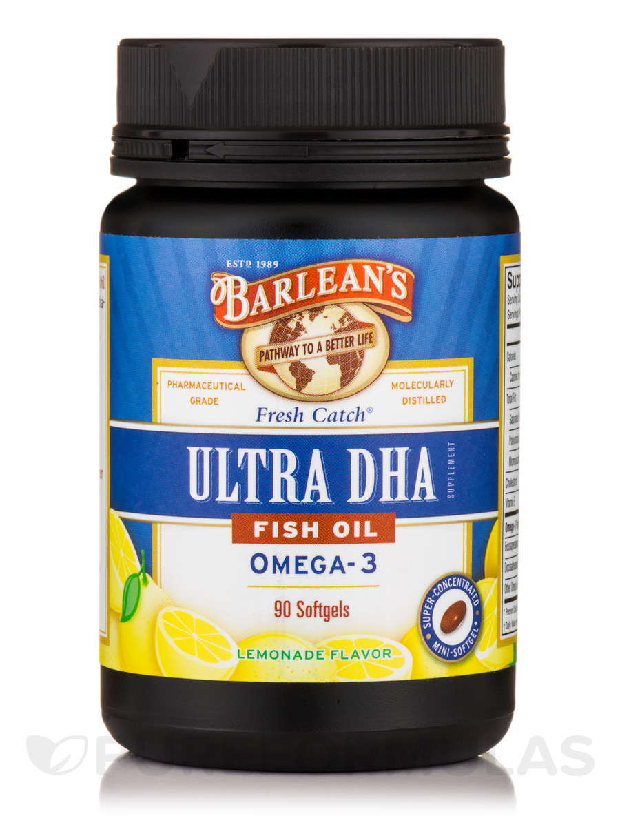 Fresh Catch® Fish Oil Ultra DHA, Triple Potency Omega-3 Lemonade Flavor 500 mg - 90 Softgels
