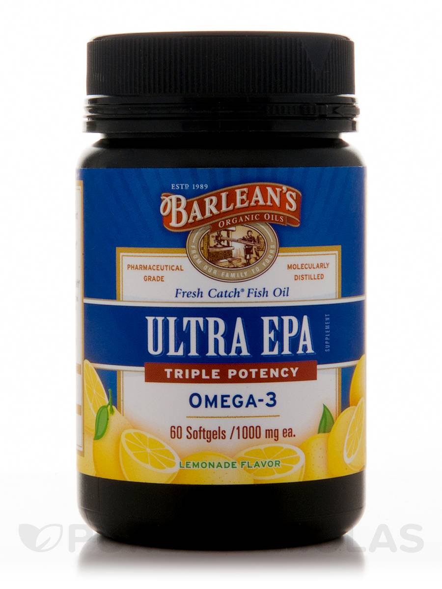 Fresh Catch® Fish Oil Ultra EPA, Triple Potency Omega-3 Lemonade Flavor 1000 mg - 60 Softgels