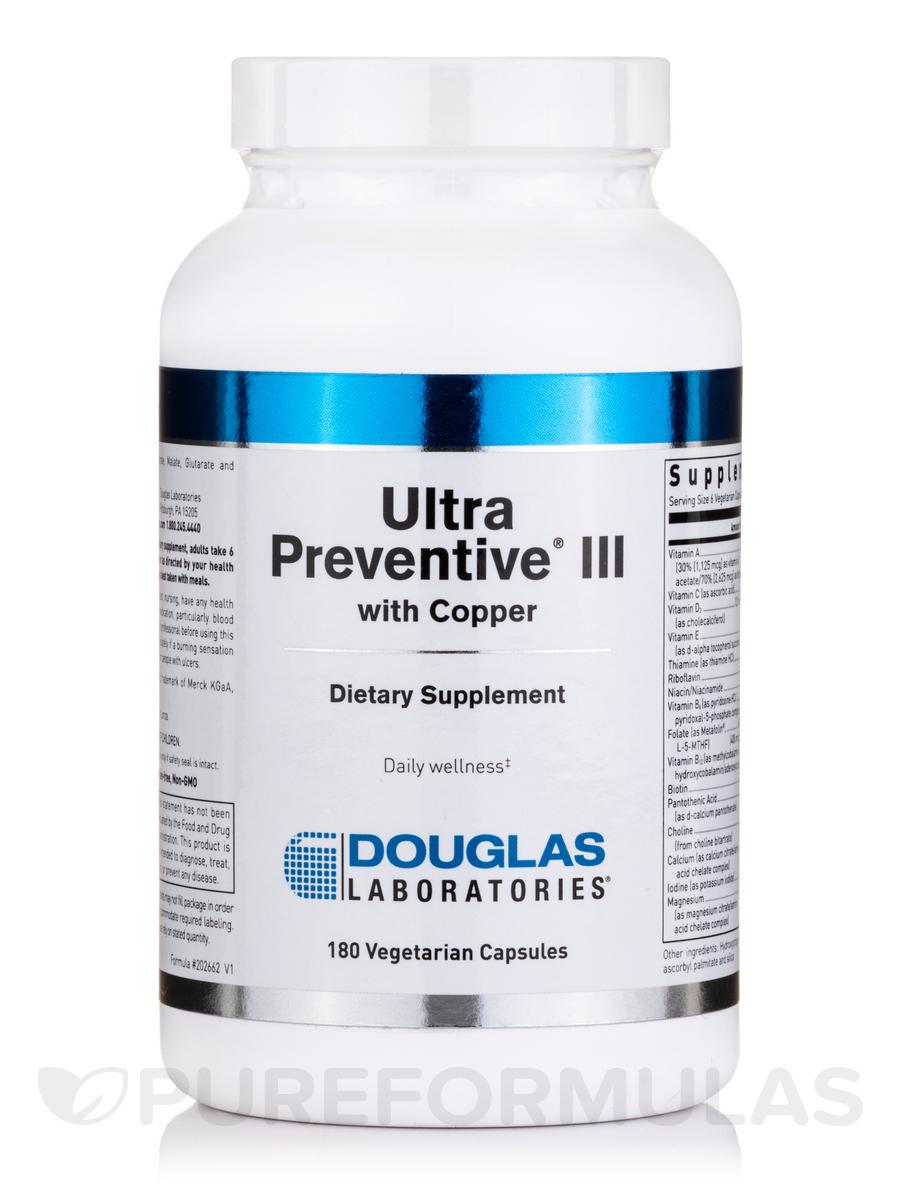 Ultra Preventive® III with Copper - 180 Vegetarian Capsules