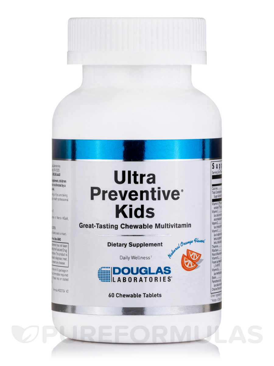 Ultra Preventive Kids Orange Flavor - 60 Bear Shaped Tablets