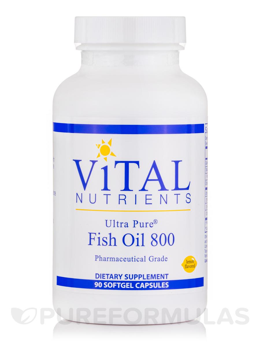 Ultra Pure Fish Oil 800 (Lemon Flavor) - 90 Softgel Capsules