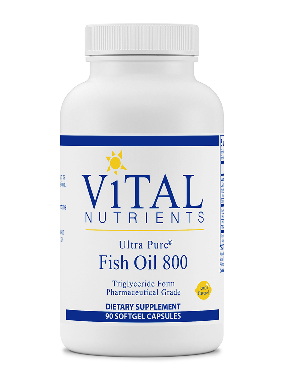 Ultra Pure® Fish Oil 800 (Triglyceride Form), Lemon Flavor - 90 Softgel Capsules