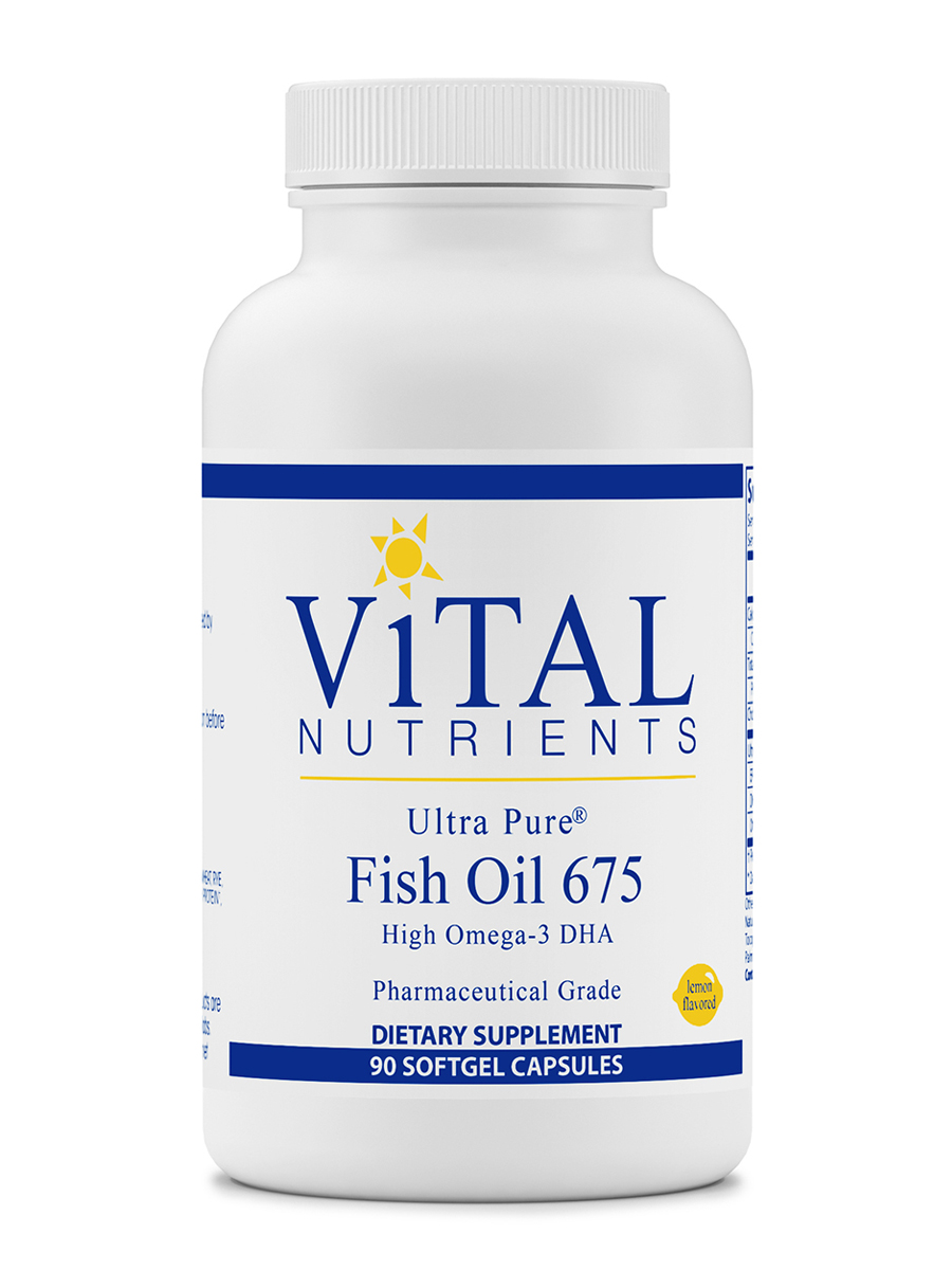 Ultra Pure Fish Oil 675 (Lemon Flavor) - 90 Softgel Capsules
