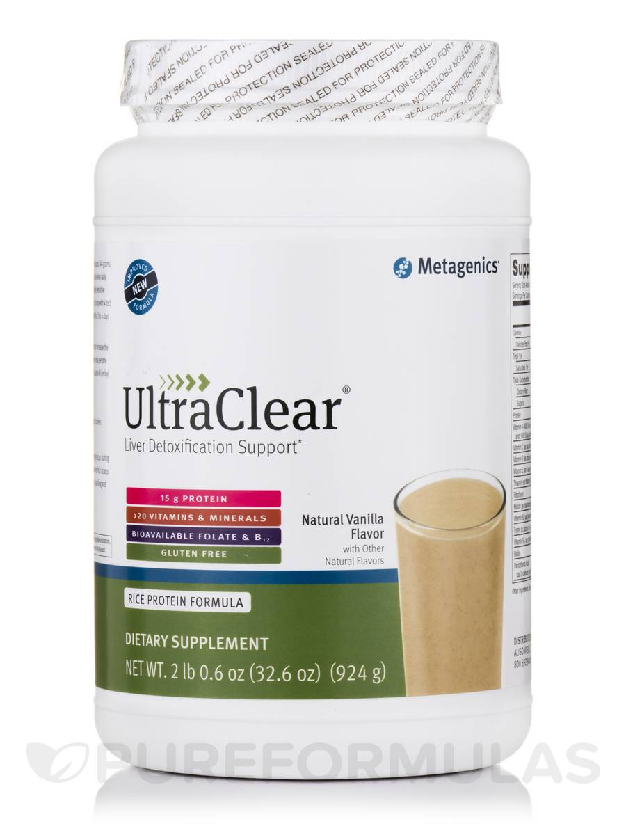 UltraClear® Rice Protein, Natural Vanilla Flavor - 32.6 oz (924 Grams)