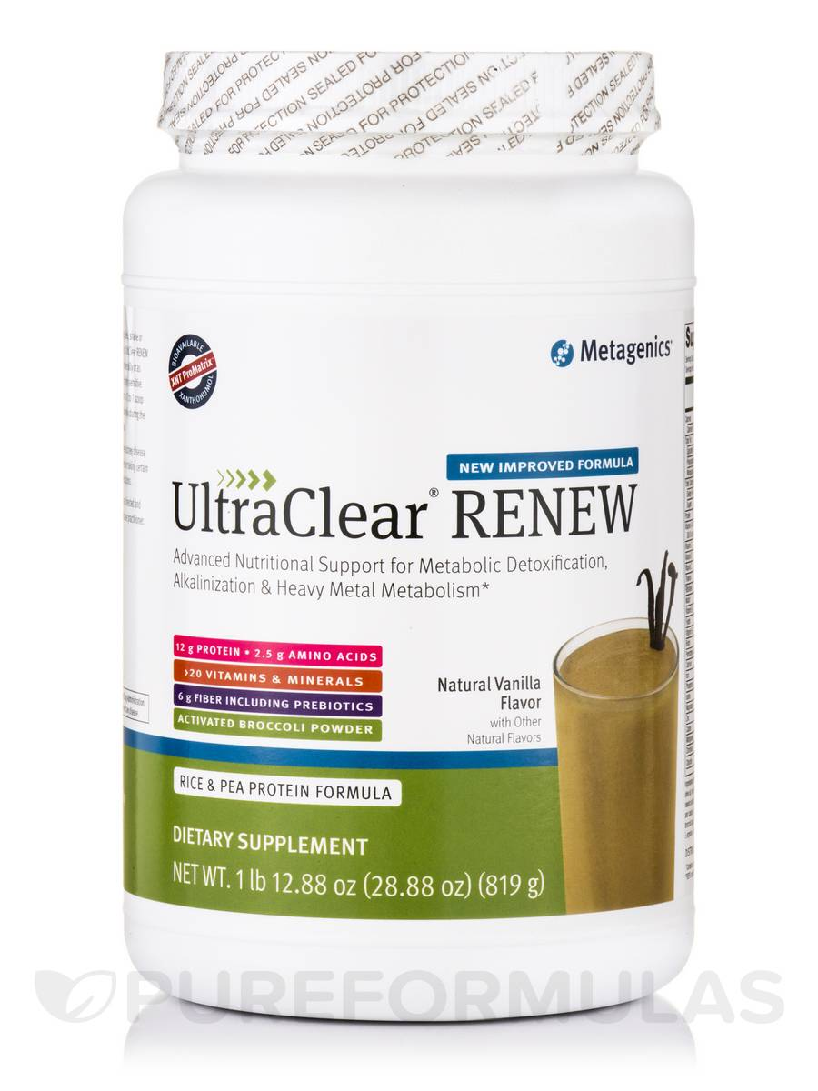 UltraClear® RENEW Rice & Pea Protein Formula, Natural Vanilla Flavor - 28.88 oz (819 Grams)