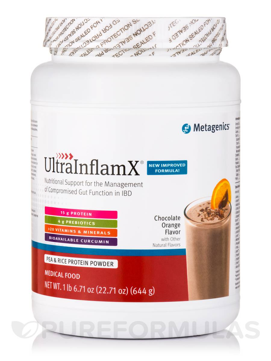 UltraInflamX® Medical Food (Chocolate Orange Flavor) - 22.71 oz (644 Grams)