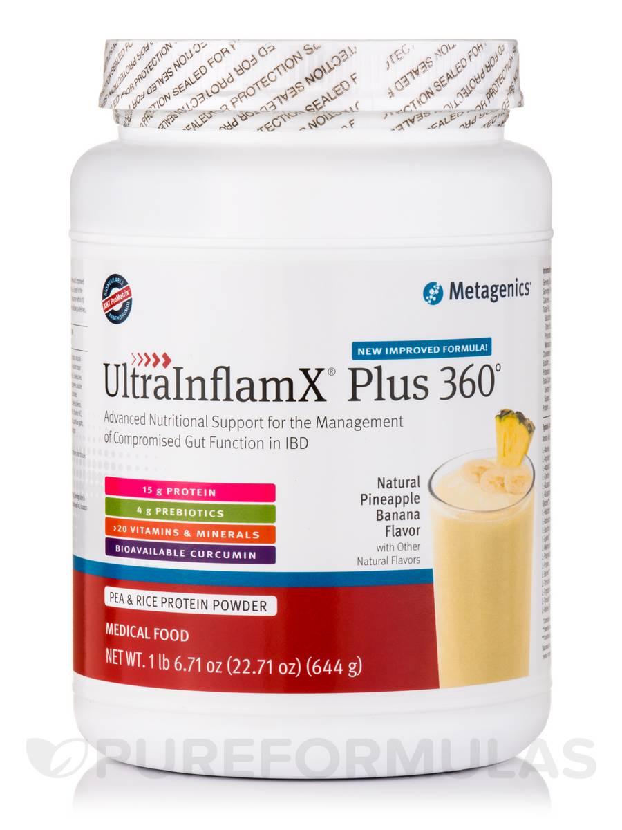 UltraInflamX Plus 360° Medical Food (Pineapple Banana Flavor) - 22.71 oz (644 Grams)