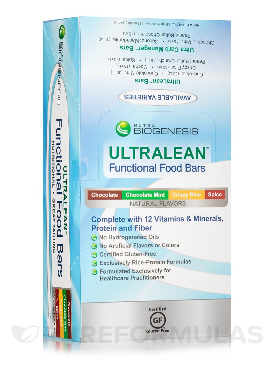 UltraLean Gluco-Support Bars Spice Flavor - Box of 30 Bars (1.75 oz / 50 Grams each)