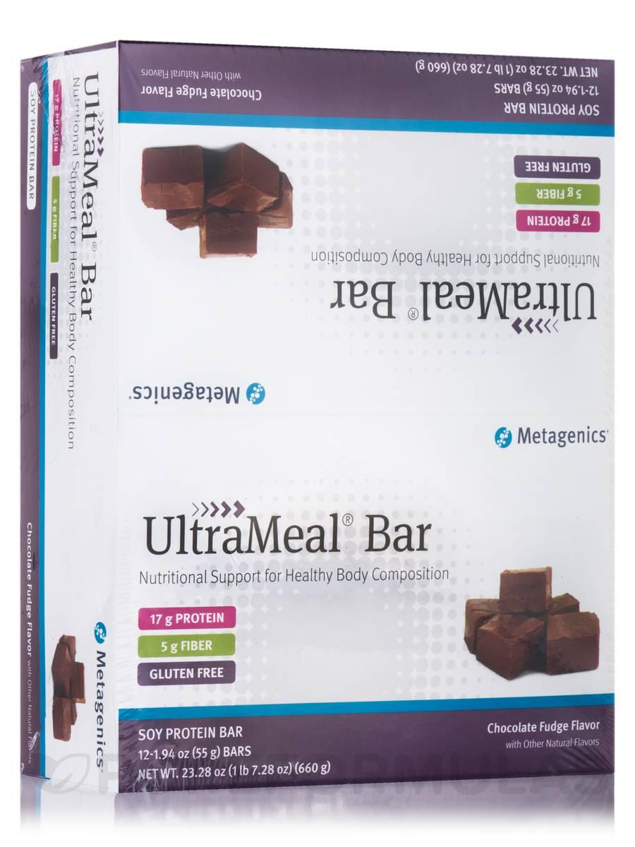 UltraMeal® Bar Medical Food (Chocolate Fudge Flavor) - Box of 12 Bars (23.28 oz / 660 Grams)