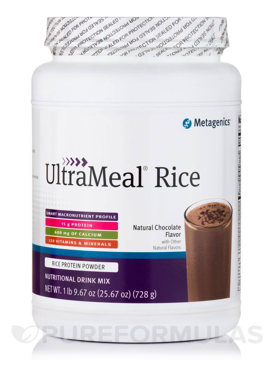 UltraMeal® RICE (Natural Chocolate Flavor) - 25.67 oz (728 Grams)