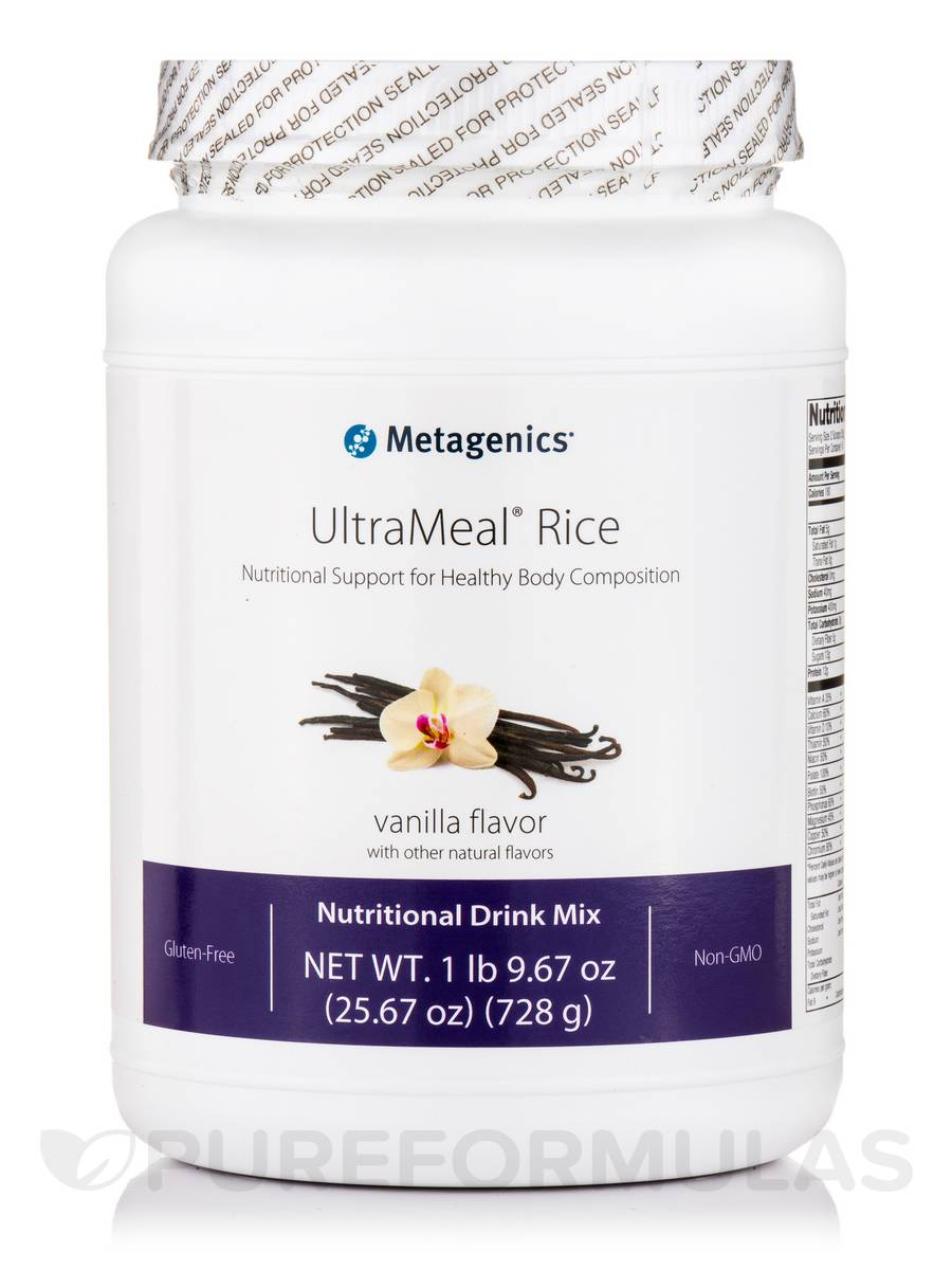 UltraMeal® RICE (Natural Vanilla Flavor) - 25.67 oz (728 Grams)