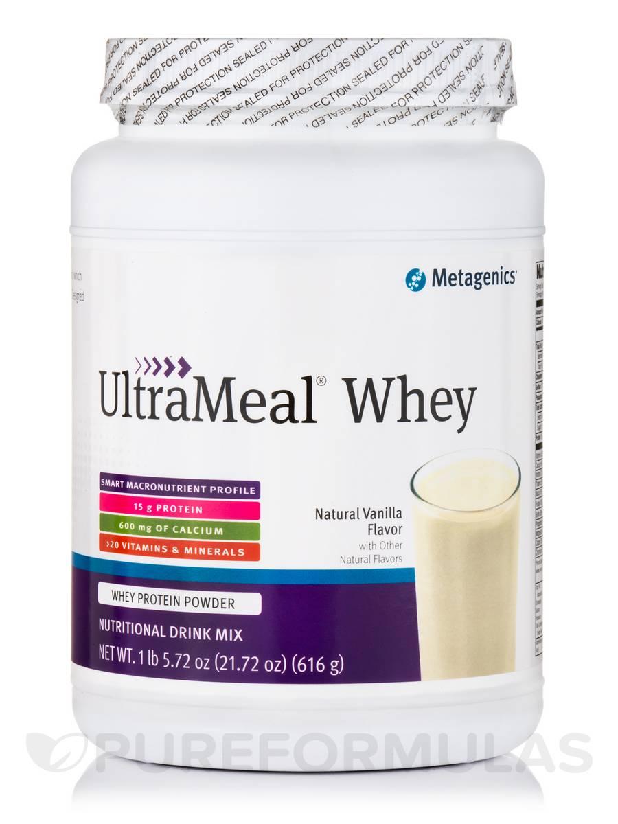 UltraMeal® WHEY (Natural Vanilla Flavor) - 22 oz (616 Grams)
