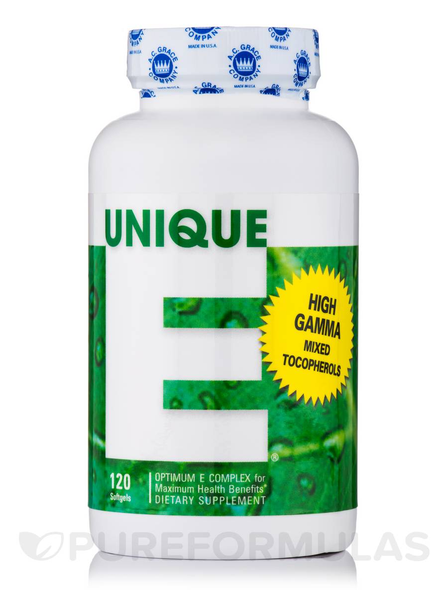 UNIQUE E® Mixed Tocopherols - 120 Softgels