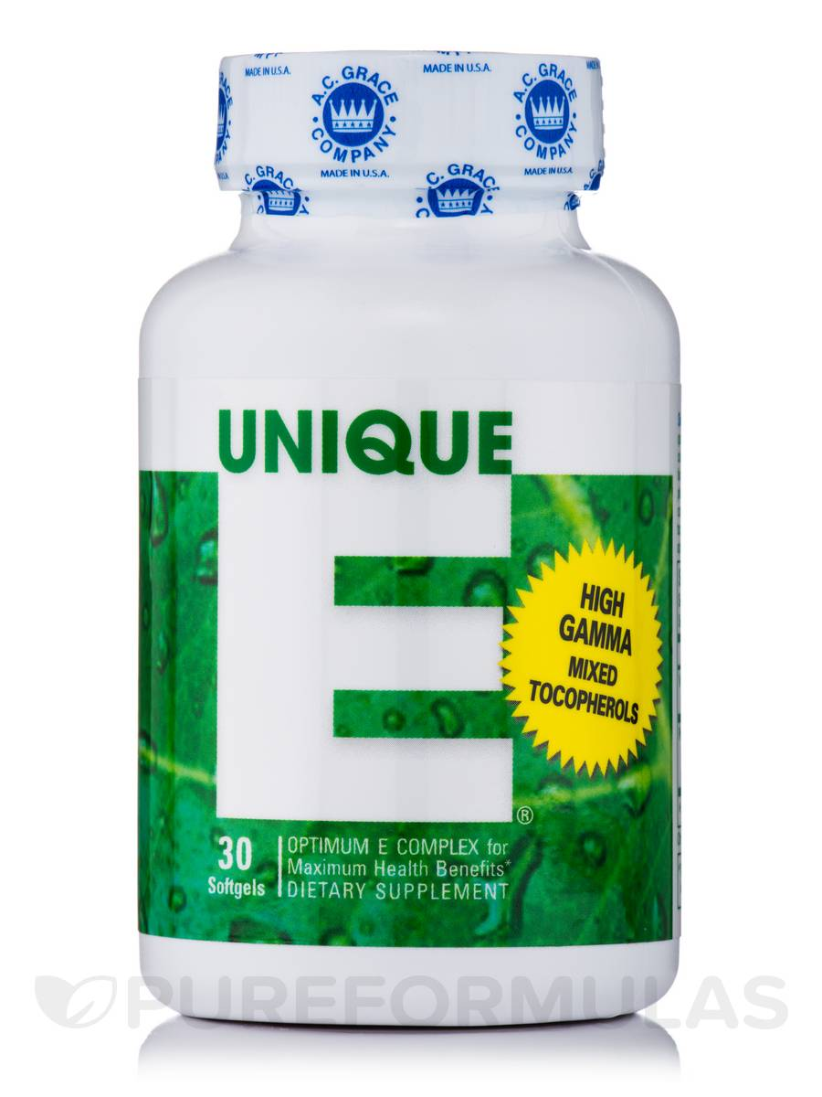 UNIQUE E® Mixed Tocopherols - 30 Softgels