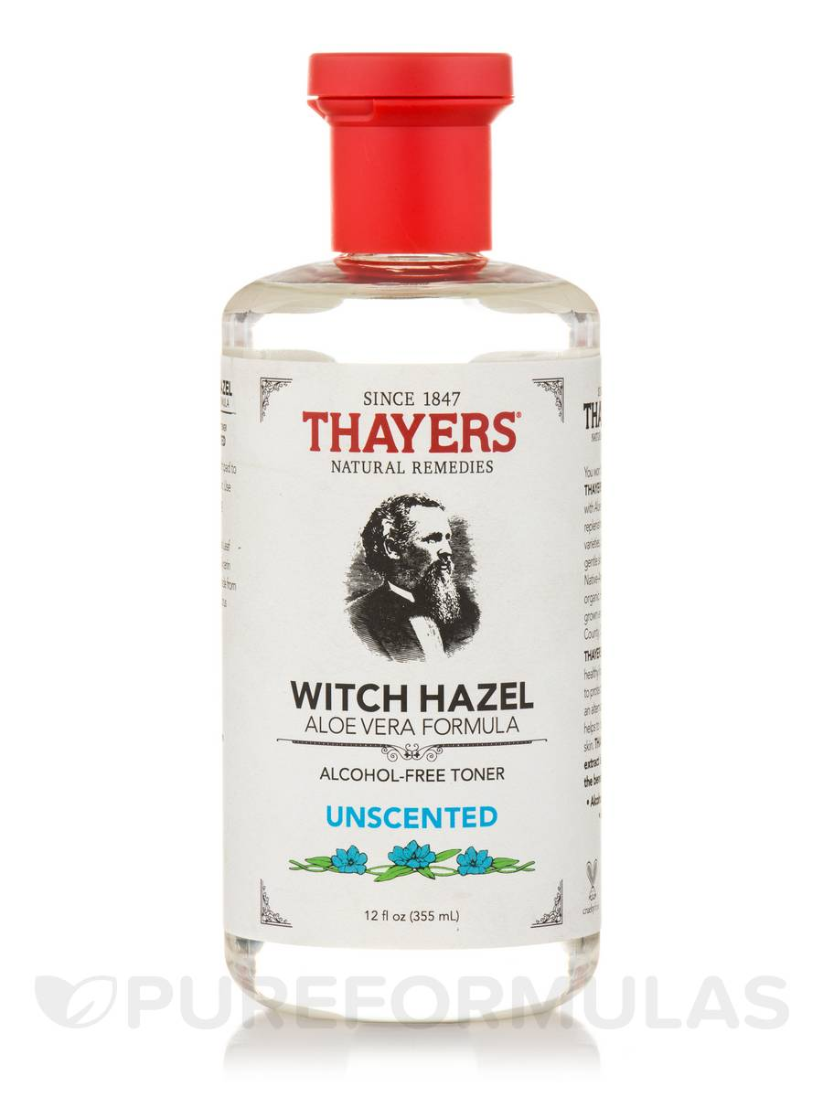 Witch Hazel Aloe Vera Formula, Unscented (Alcohol-Free Toner) - 12 fl. oz (355 ml)