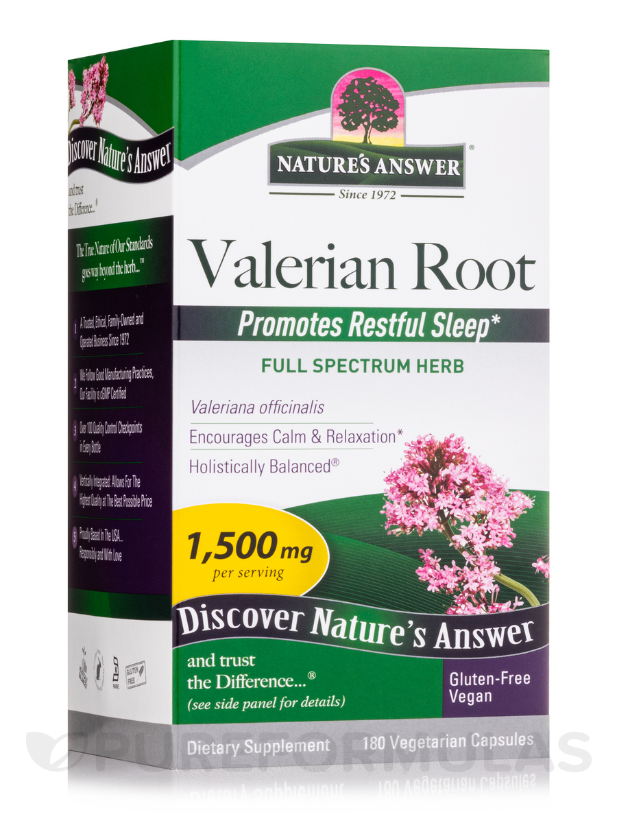 Valerian Root - 180 Vegetarian Capsules