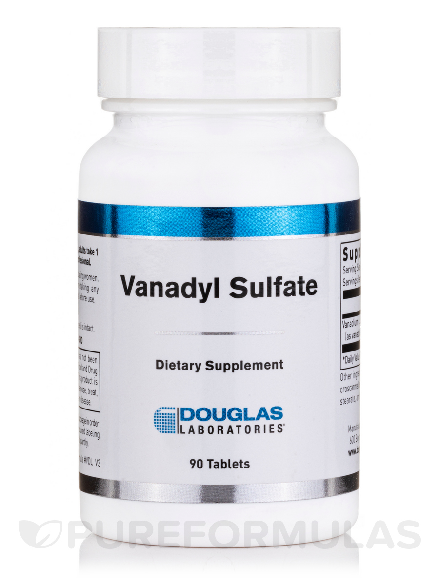 Vanadyl Sulfate - 90 Tablets