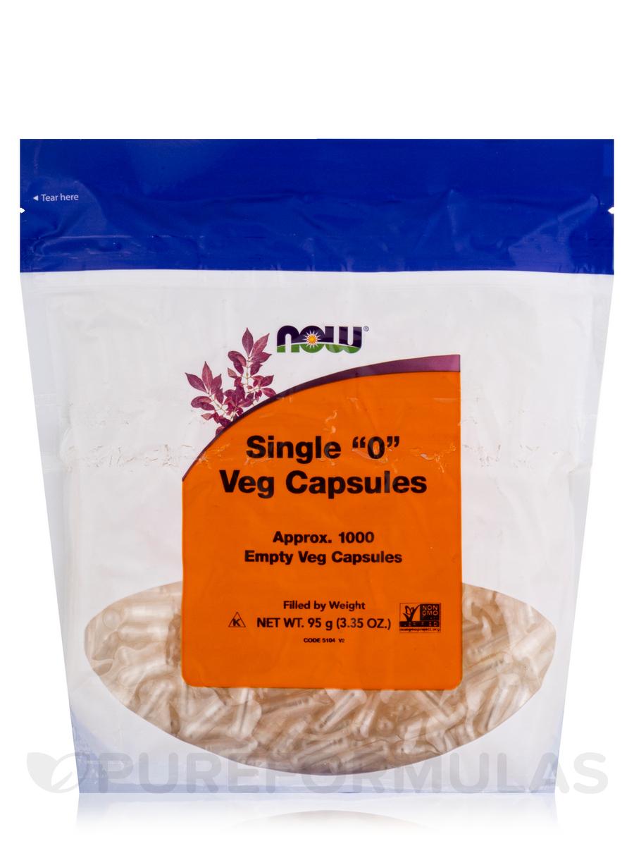 Vcaps '0' Empty - 1000 Capsules