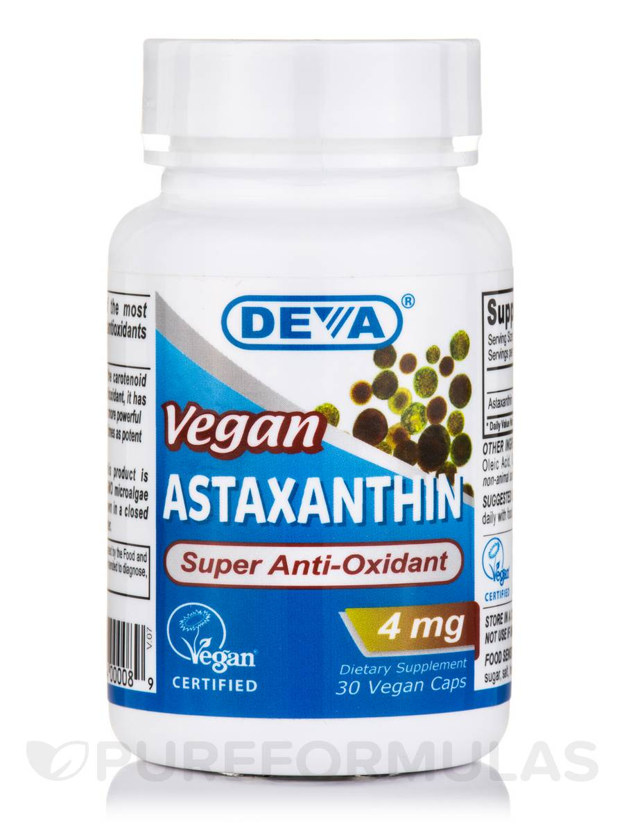 Vegan Astaxanthin 4 mg - 30 Vegan Capsules