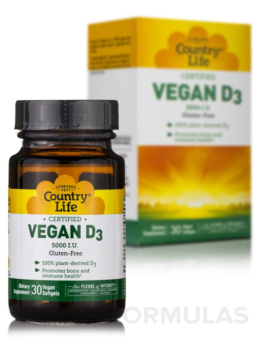Vegan D3 - 30 Vegetarian Softgels