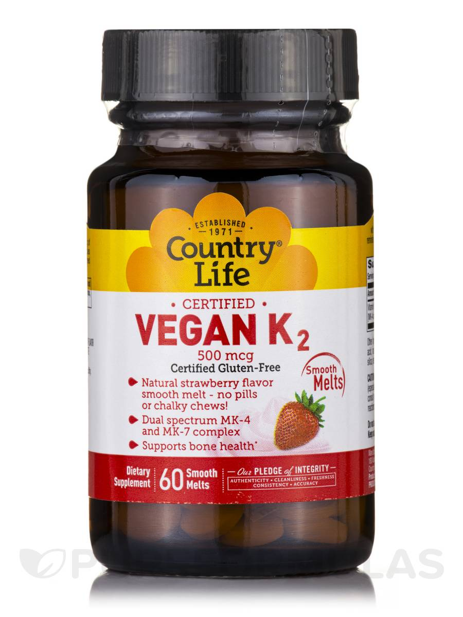 Vegan K2 500 mcg (Strawberry Flavor) - 60 Smooth Melts